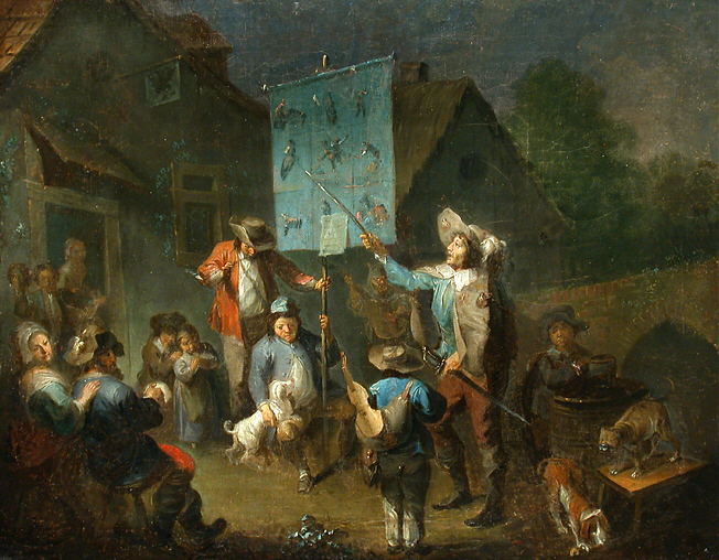 Depiction of Cantastoria by Dutch artist Moritatenerzöhler (totally public domain)